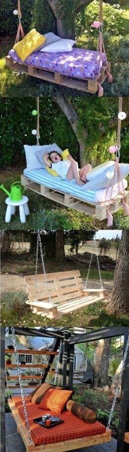 DIY Pallet Swings, Benches And Beds #Home #Garden #Trusper #Tip