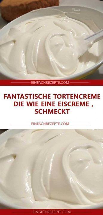 Fantastische Kuchencreme, die wie ein Eis schmeckt