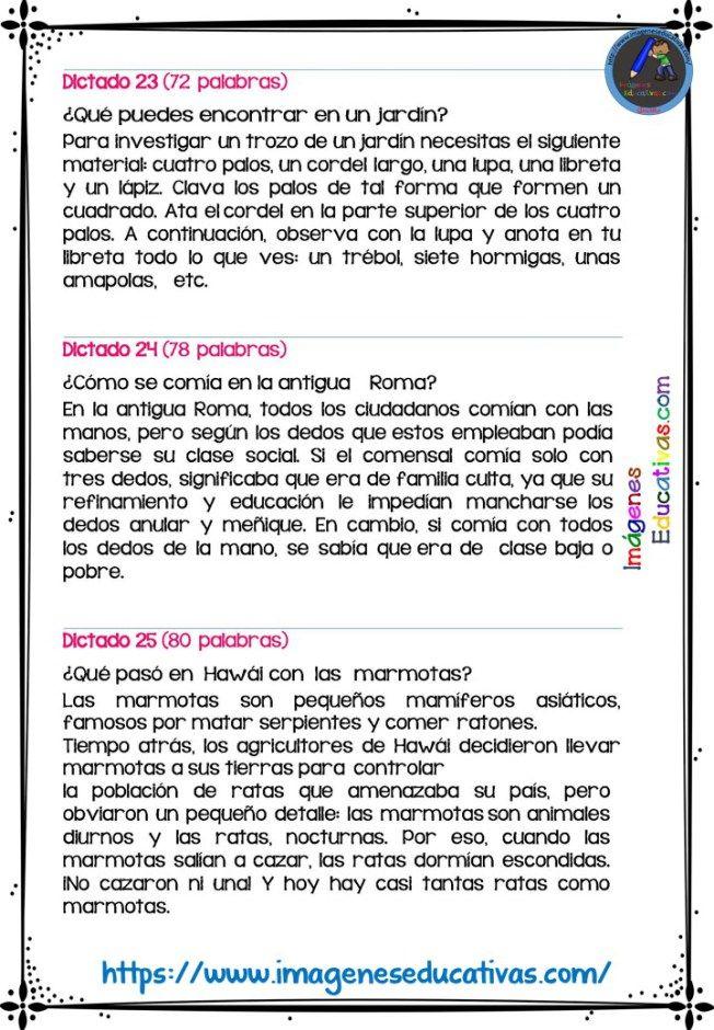30 Dictados Para Primaria 1º 2º Y 3º Ciclo Para Enseñar A Escribir El Maestro Planifica Situaciones Dond Enseñando A Escribir Dictado Primaria Dictados Cortos