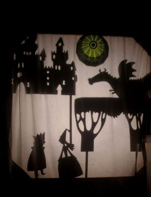 explore shadow puppets, projecting objects placed on the overhead projector, dancing, and story telling using props on the projector.