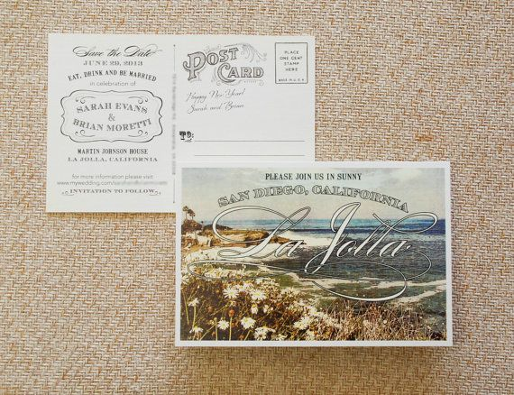 Vintage Postcard Save The Date San Diego By Beyonddesign On Etsy, $30.00 ·  Unique Wedding StationeryWedding StationaryInvitation ...