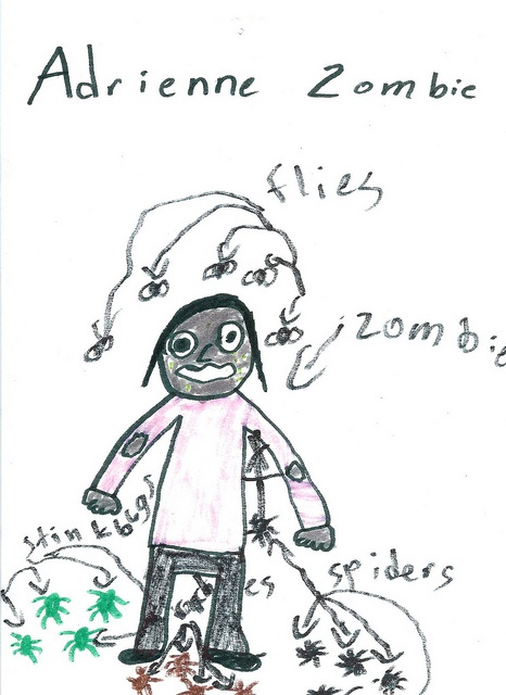 What I'd look like if I were a zombie, according to Lucas.