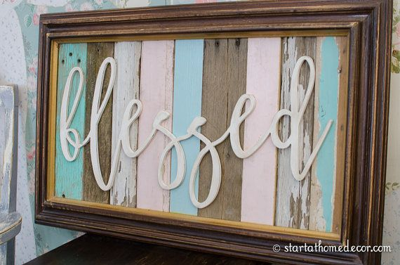 Clearance Blessed Word 24 Quot X12 Quot Unfinished Mdf Word