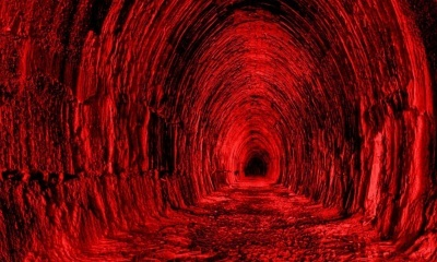 Red Tunnel, Black Light (click to view)