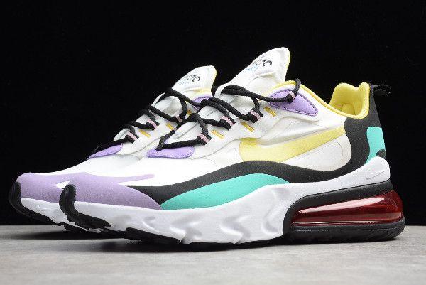 2019 Nike Air Max 270 React Bright Violet White Dynamic Yellow