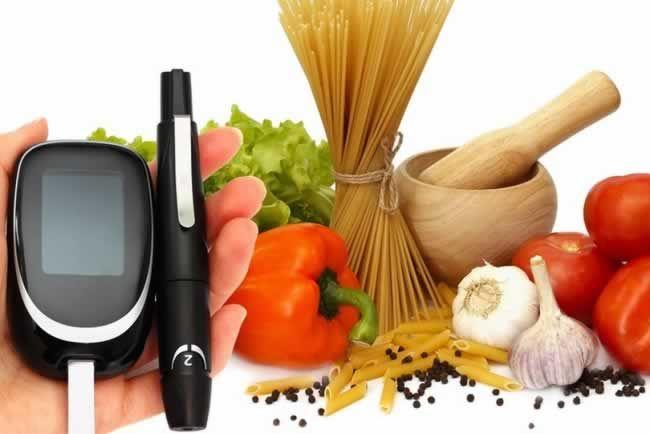 medidor de glicose e alimentos