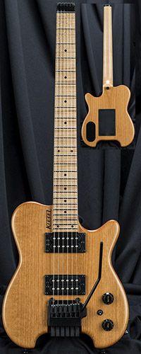 Kiesel Guitars HH2X Allan Holdsworth Signature Headless Guitar w/ Hipshot/Kiesel Tremolo System Serial Number 136819