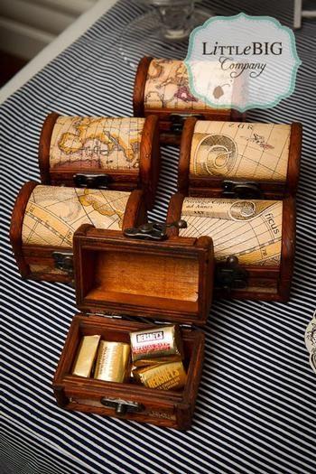 nautical party favor boxes