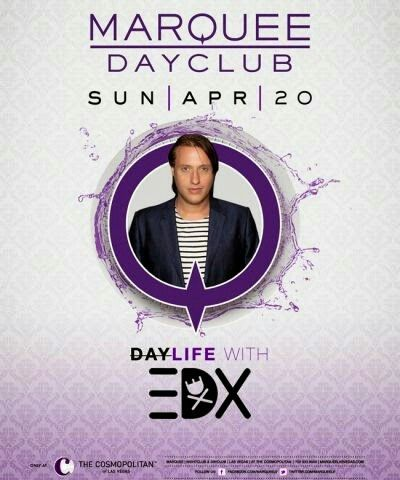EDX at Marquee Dayclub Las Vegas Sunday April 20th. 702.741.CITY(2489) CITY VIP CONCIERGE for Cabanas, Daybeds, Bungalows, Tickets and the Best of Any & Everything Fabulous in Las Vegas!!! #MarqueeBeachclubLasVegas #VegasPoolParties #CityVIPConcierge *CALL OR CLICK TO BOOK* http://cityvipconcierge.wantickets.com/Events/151480/EDX-at-Marquee-Dayclub/