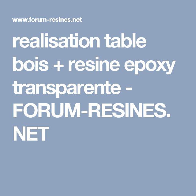 realisation table bois + resine epoxy transparente - FORUM-RESINES.NET