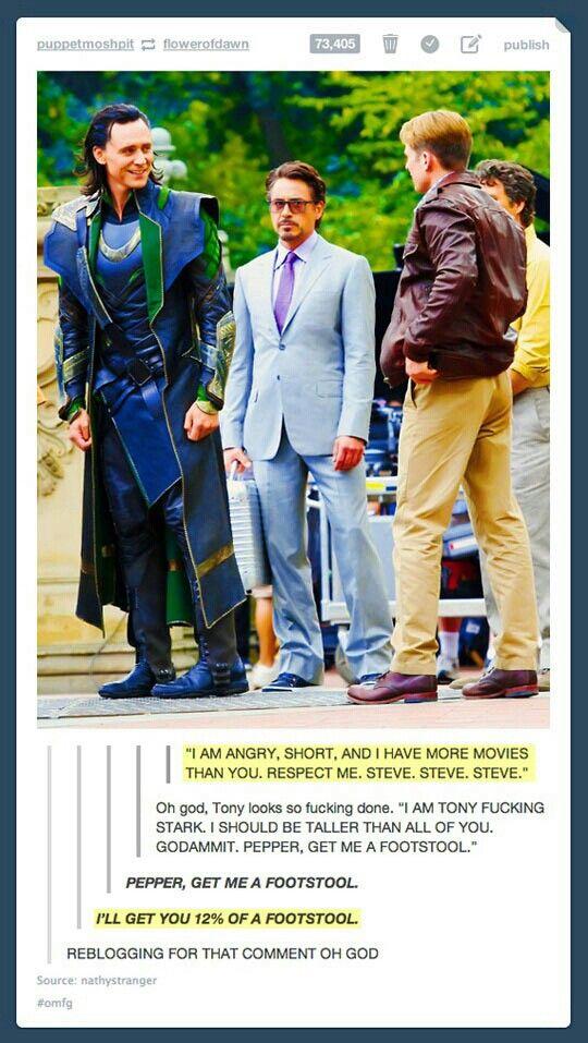 Hahaha Robert... ~ Avengers   Funny   Loki   Tom Hiddleston   Iron Man   Robert…