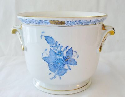 Herend Chinese Bouquet Blue w Gold Trim Porcelain Vase Urn Pot 7215 AB 6 | eBay