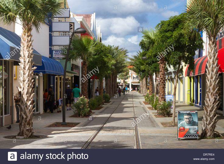 Main street in Oranjestad Aruba