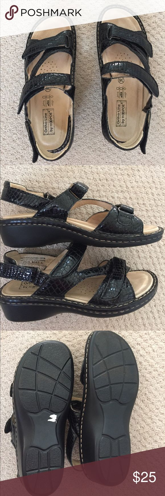 Orthopedic sandals Like new condition! Worn inside the house once! Genuine leather upper lining. hoopoe Shoes Sandals
