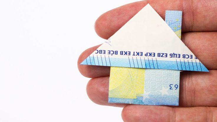 Geldschein falten Haus, Geldgeschenk zum Einzug / …