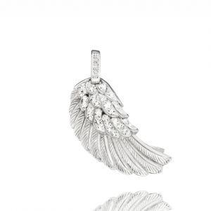Engelsrufer - Medium Vleugel - Zilver Kristal