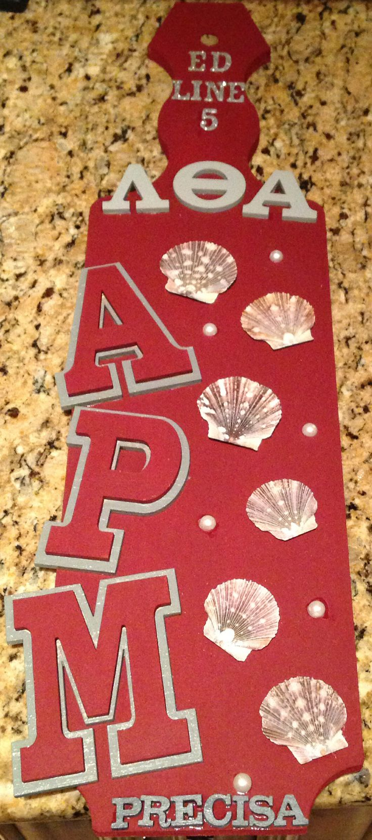 Lambda Theta Alpha Paddle I made for my Assistant Pledge Mistress (APM) Nielly