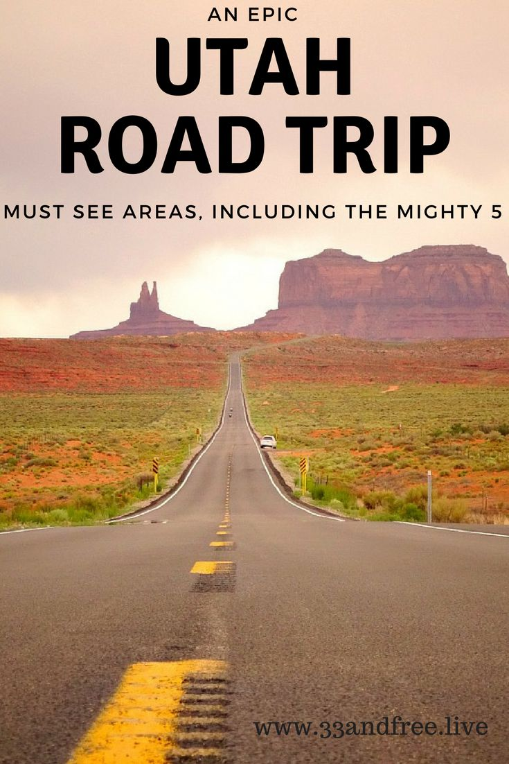An Epic Utah Road Trip. Read about must see places in Utah for your next road trip.