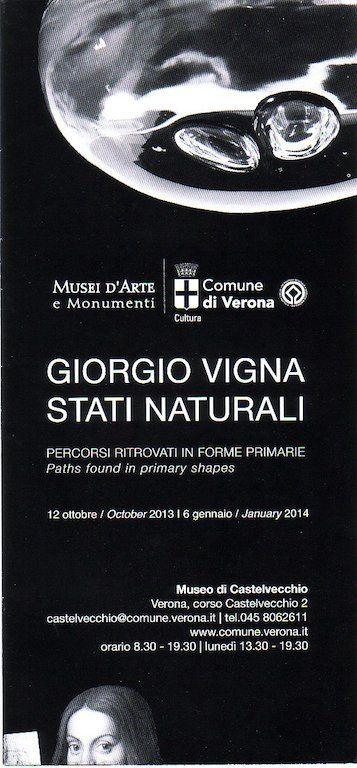 Giorgio Vigna@Museo Castelvecchio, Verona