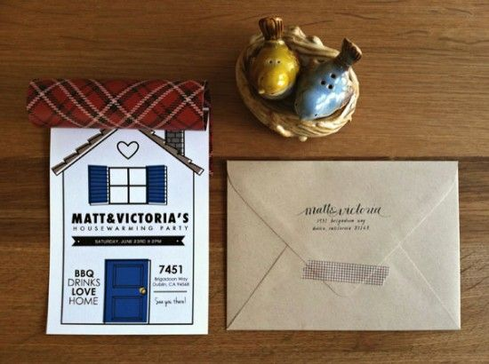 Victoria's Housewarming Party Invitations | Design and Photo Credits: Victory Paper Designs