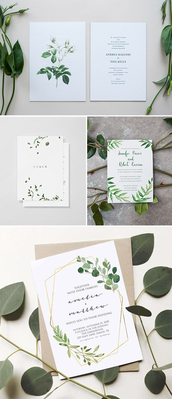 Organic inspired minimalist wedding invitations weddinginvitation 1124