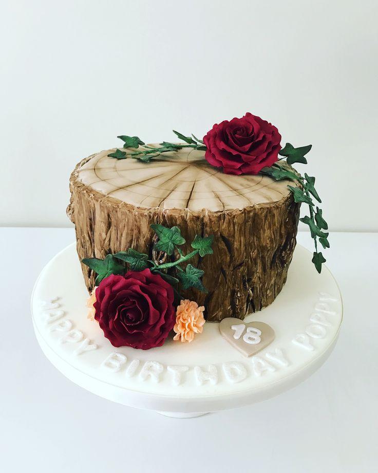 Tree stump cake by Plumtree Bakehouse