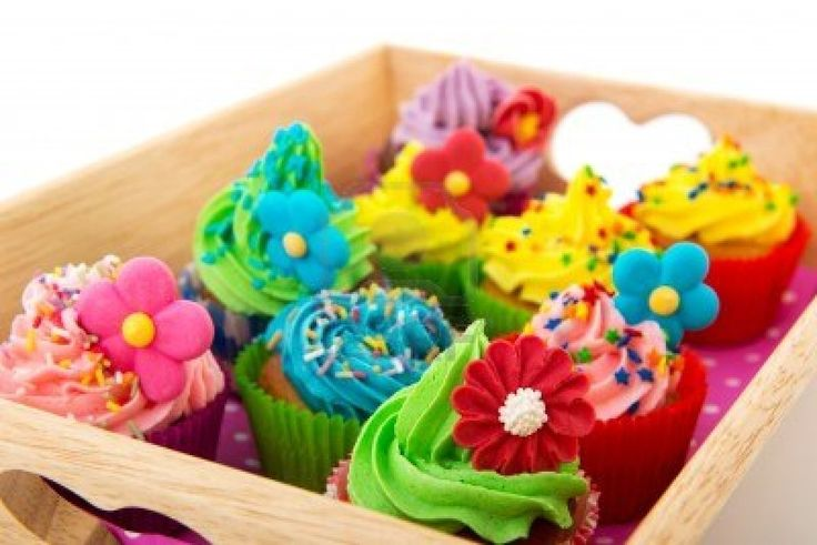 cupcakes coleridos