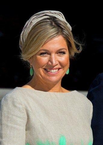 Queen Máxima, November 3, 2014 in Fabienne Delvigne | Royal Hats....Posted on November 3, 2014 by HatQueen...King Willem-Alexander and Queen Máxima of the Netherlands kicked off the second leg of their Asian tour today with an official welcome to South Korea.