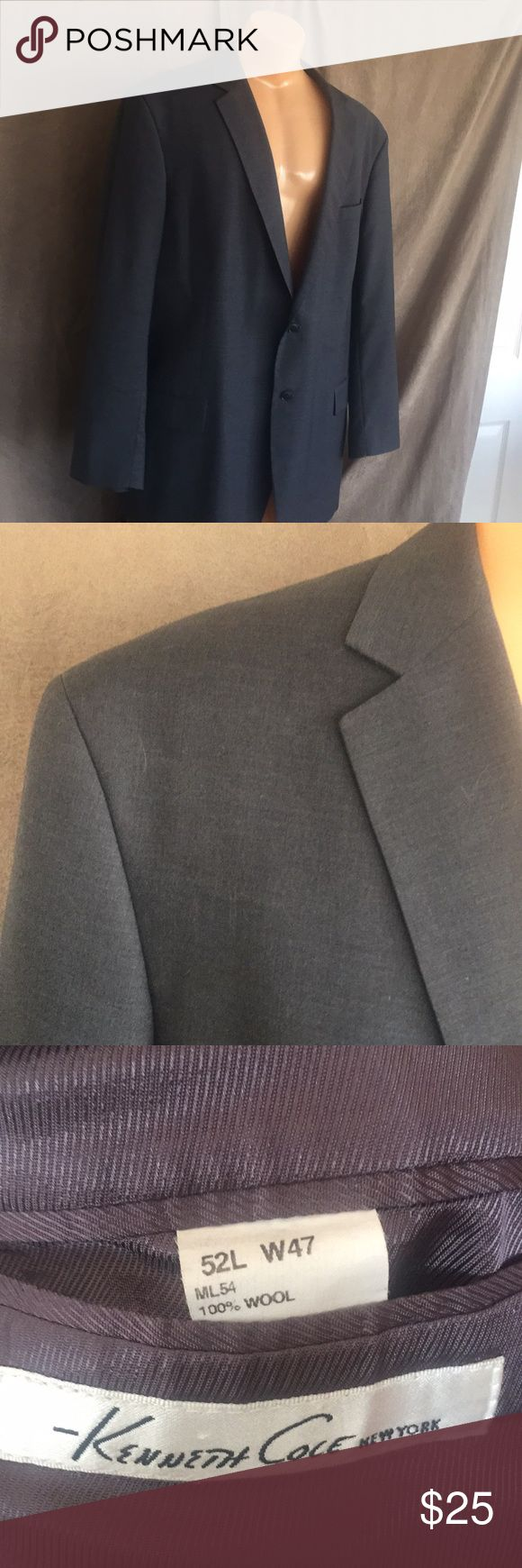 Kenneth Cole gray suit jacket 52L W47 P195 This suit jacket is in excellent condition.  Big and tall! Kenneth Cole Suits & Blazers Sport Coats & Blazers