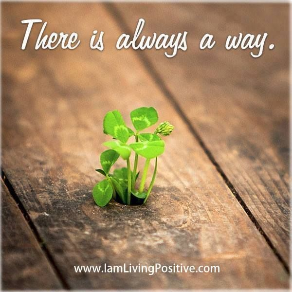 there is always a way!! you just have to lookk out for it!