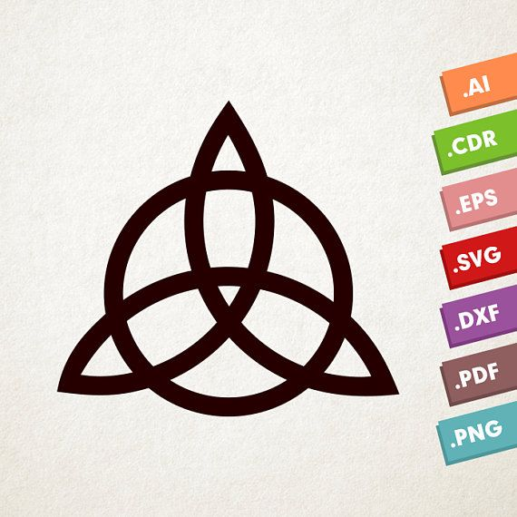 Trinity Knot SVG, Vector Illustration  Celtic Trinity Knot SVG