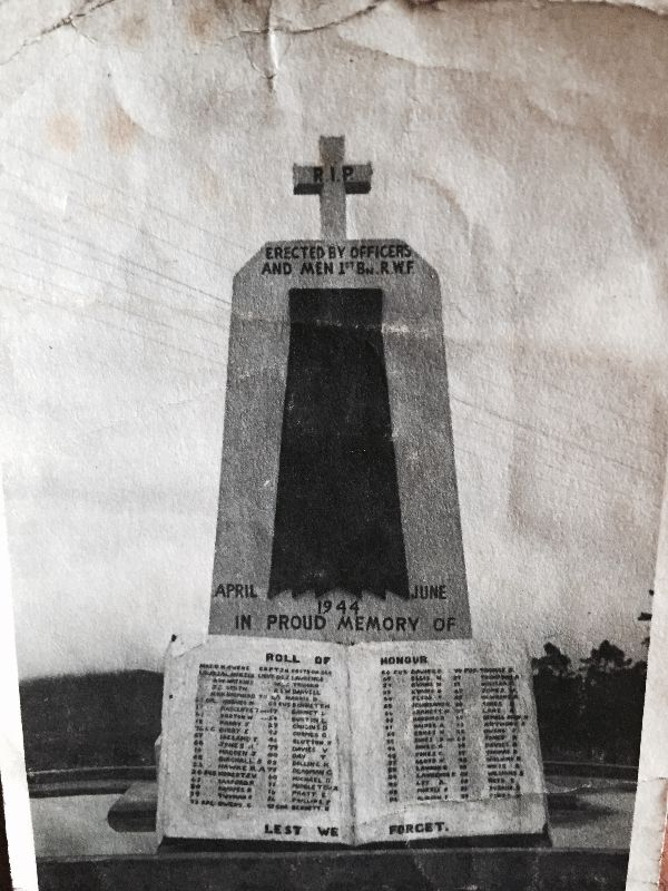 The 1 RWF Kohima Memorial.