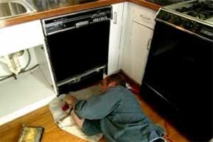 This Old House plumbing and heating expert Richard Trethewey explains how to replace a dishwasher.