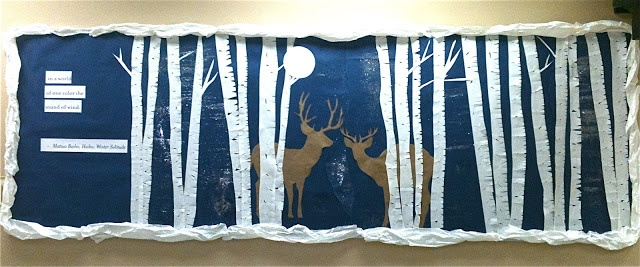 A lovely idea of a winter bulletin board display featuring a haiku called…