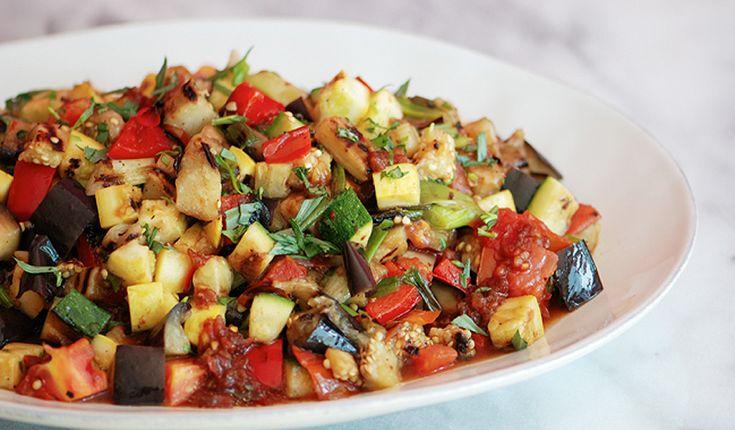 Grilled Ratatouille Salad - Bon Appétit...can we call it Ratatouille ...
