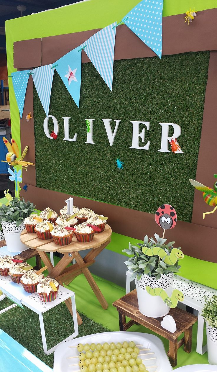 Bug themed 1st birthday party by #easybreezyparties. http://www.easybreezyparties.com.au/party-themes/bug-insect-party.html