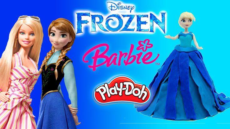 Плей До Принцессы Дисней Лепим платья из пластилина на русском Куклы Бар...