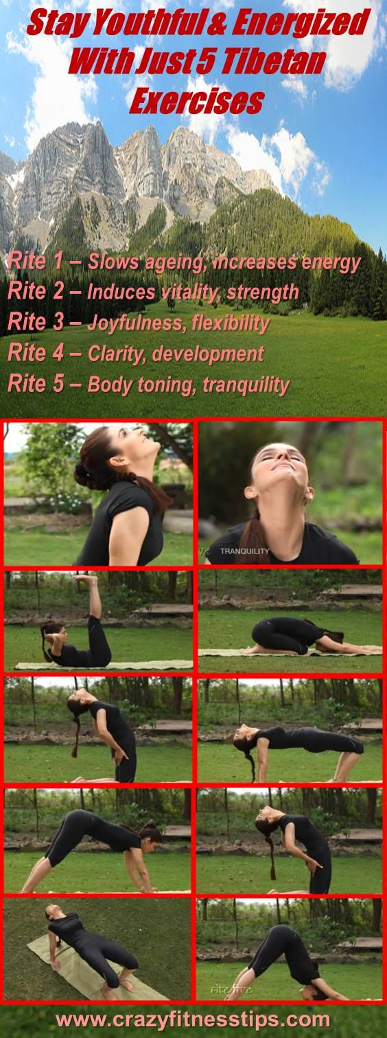 Stay Youthful & Energized With Just 5 Tibetan Exercises