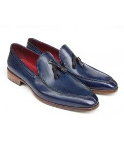 Patina Blue  Tassel Loafers