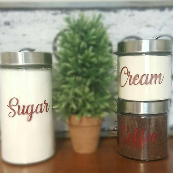 Check out this item in my Etsy shop https://www.etsy.com/listing/555038259/coffee-creamer-sugar-vinyl-labels