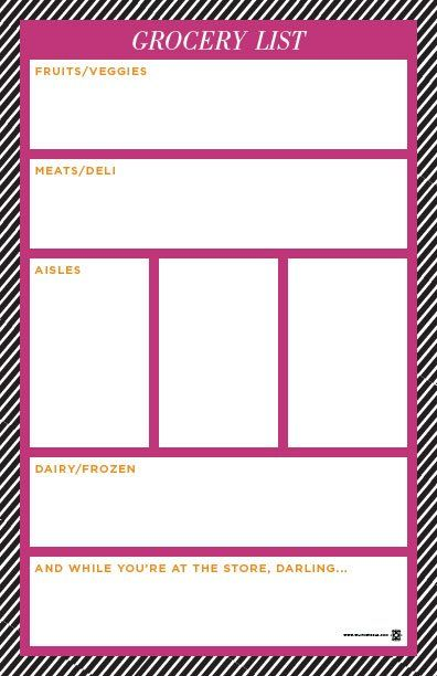 16 best one organized mommy! images on Pinterest Free printables - printable shopping list with categories
