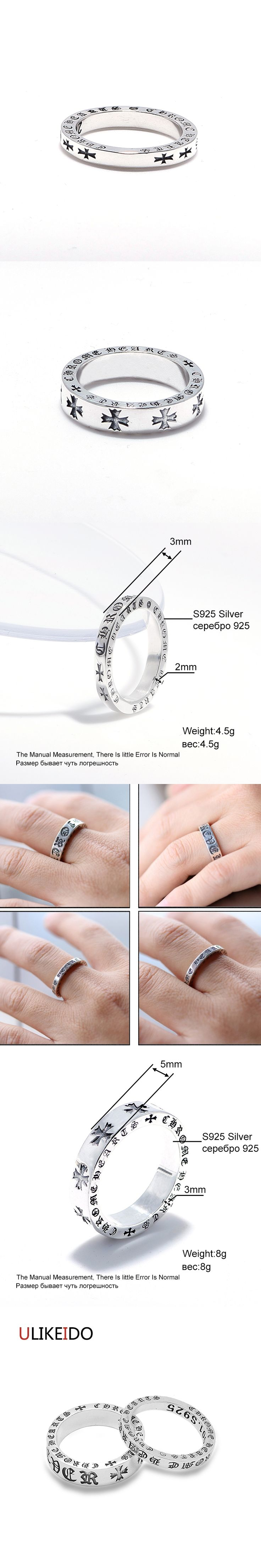 100% Pure 925 Sterling Silver Ring Ch Lovers Jewelry Letter Fashion Mens Signet Rings For Women Special Wedding Christmas Gift