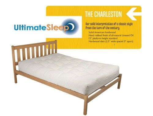 The Charleston Sustainable Wooden Bed Frame Oak Or Maple In Twin