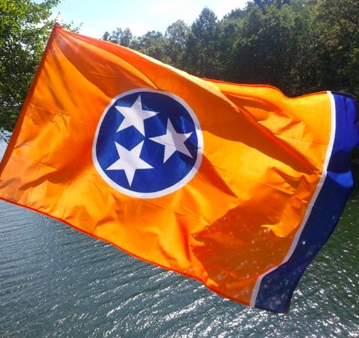 Orange Tennessee Flag