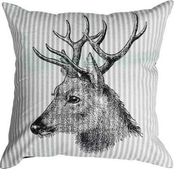 The Vintage Striped Deer Toss Cushion from Urban Barn is a unique home décor item. Urban Barn carries a variety of 25 Percent Off Bedding, Throws and Pillows and other  Sale furnishings.