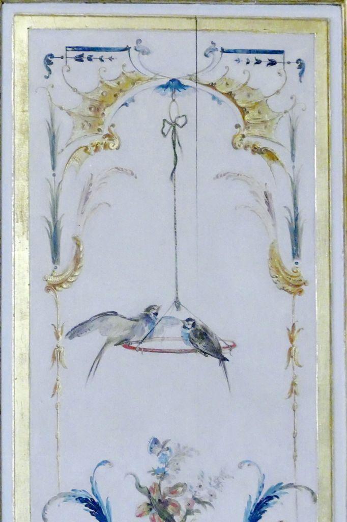 Porte vers la Galerie des Batailles, Grande Singerie,  château de Chantilly, photo lavieb-aile
