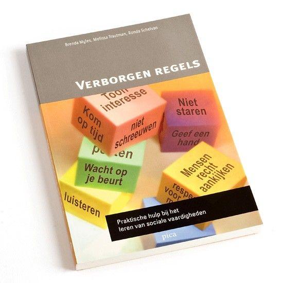 """""""Verborgen regels"""". Met dit boek kun je je kind met bijvoorbeeld autisme of ADHD leren omgaan met belangrijke sociale regels die gelden in alledaagse situaties."""