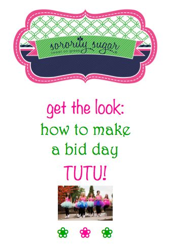 Bid day tutus are so popular and easy to make with basically no sewing! Follow these simple DIY steps for creating the cutest sorority bid day look!