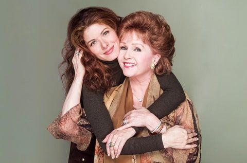 Debra Messing Debbie Reynolds Will & Grace - Debra Messing and Debbie Reynolds on 'Will & Grace.' Paul Drinkwater/NBC/NBCU Photo Bank via Getty Images