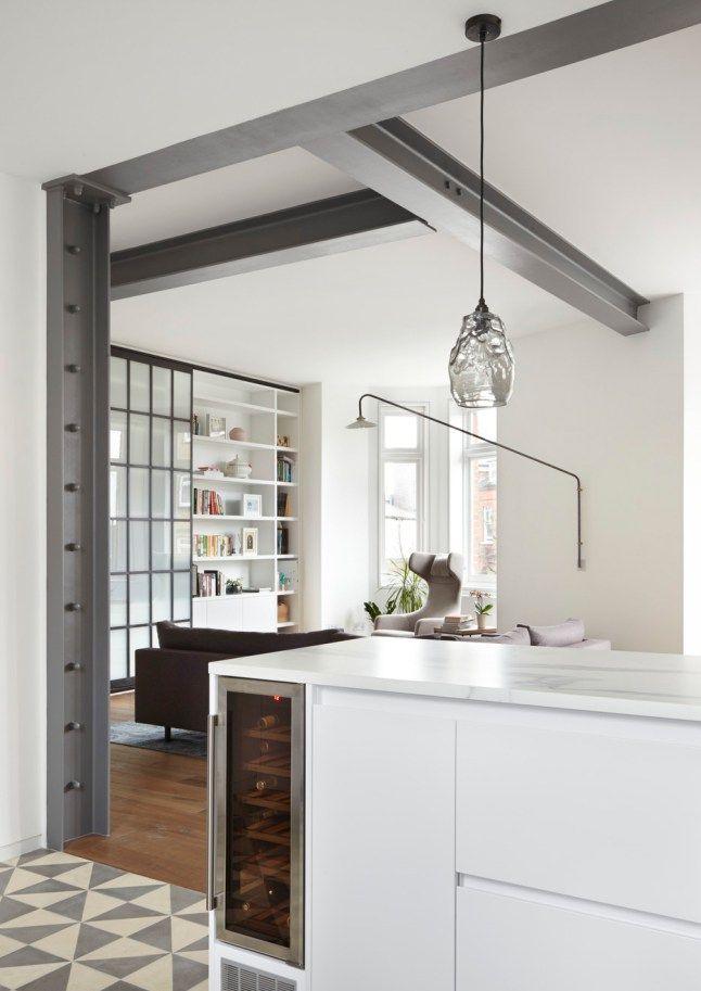 les 25 meilleures id es de la cat gorie poutre m tallique. Black Bedroom Furniture Sets. Home Design Ideas